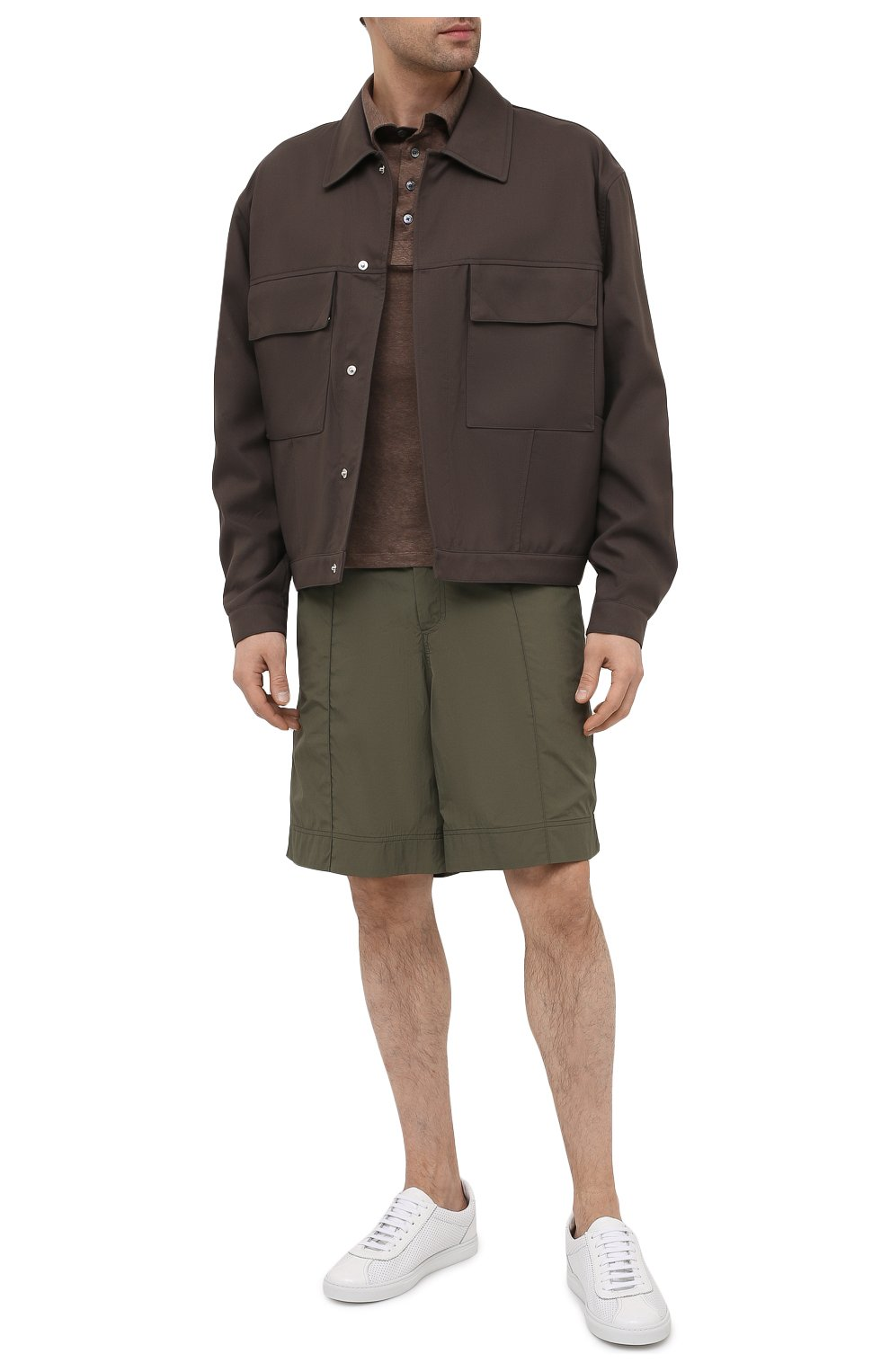 Мужское льняное поло ERMENEGILDO ZEGNA коричневого цвета, арт. UU564/723 | Фото 2