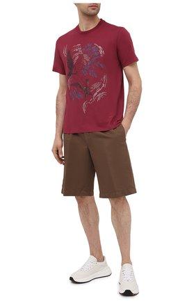 Мужская хлопковая футболка ZEGNA COUTURE красного цвета, арт. CWCJ13/9WJ13 | Фото 2