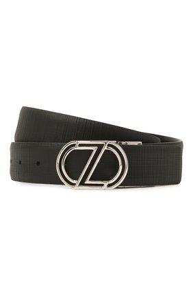 Мужской кожаный ремень Z ZEGNA черного цвета, арт. B1JP20/J1107H | Фото 1