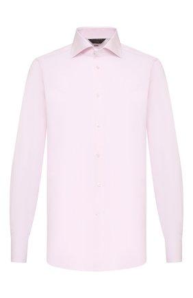 Мужская хлопковая сорочка ZEGNA COUTURE светло-розового цвета, арт. 902041/9NS0LB | Фото 1