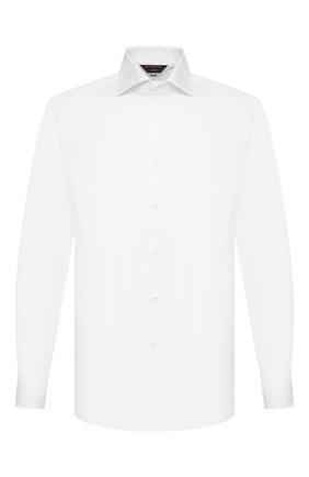 Мужская хлопковая сорочка ZEGNA COUTURE белого цвета, арт. 902013/9NS0LB | Фото 1