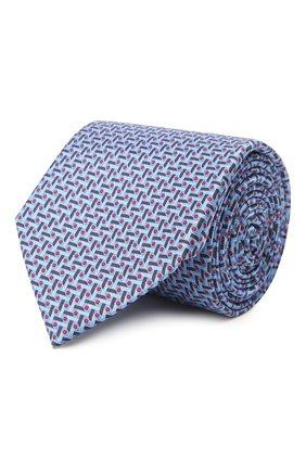 Мужской комплект из галстука и платка CANALI темно-синего цвета, арт. 08/HS03238   Фото 1 (Материал: Шелк, Текстиль)