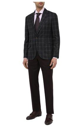 Мужские кожаные монки H`D`S`N BARACCO бордового цвета, арт. 64207.6* | Фото 2 (Стили: Классический; Материал внутренний: Натуральная кожа)