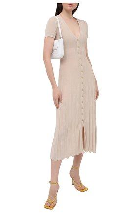 Женское хлопковое платье JACQUEMUS бежевого цвета, арт. 211KN20/200800 | Фото 2