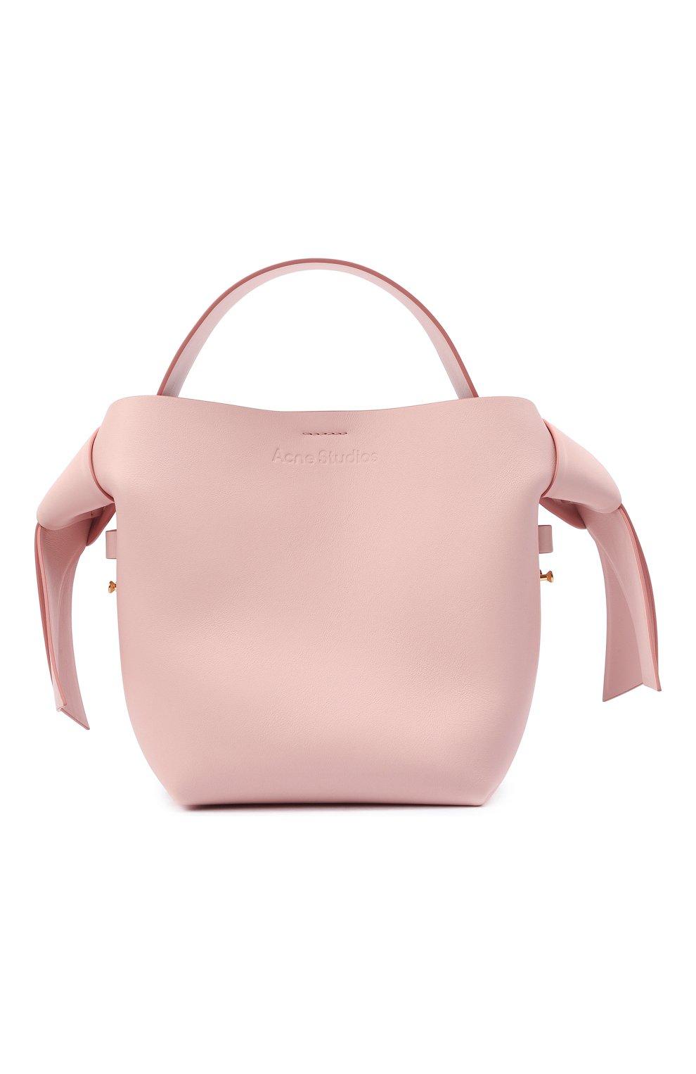 Женская сумка musubi mini ACNE STUDIOS розового цвета, арт. A10093   Фото 1