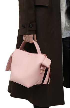 Женская сумка musubi mini ACNE STUDIOS розового цвета, арт. A10093   Фото 2