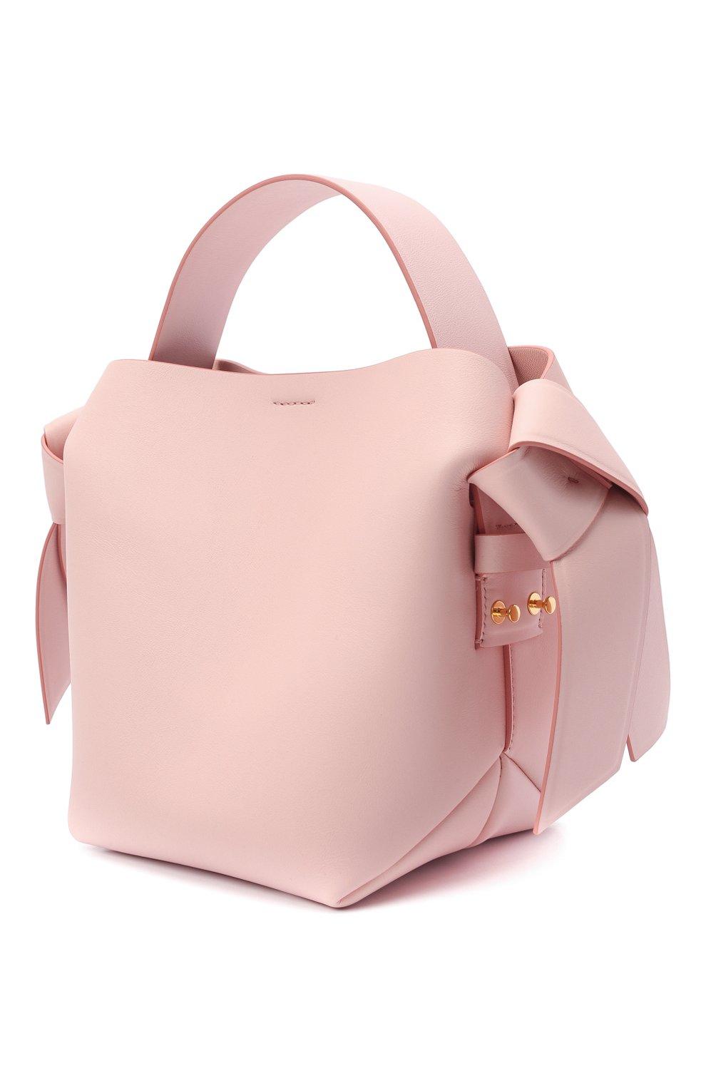 Женская сумка musubi mini ACNE STUDIOS розового цвета, арт. A10093   Фото 3