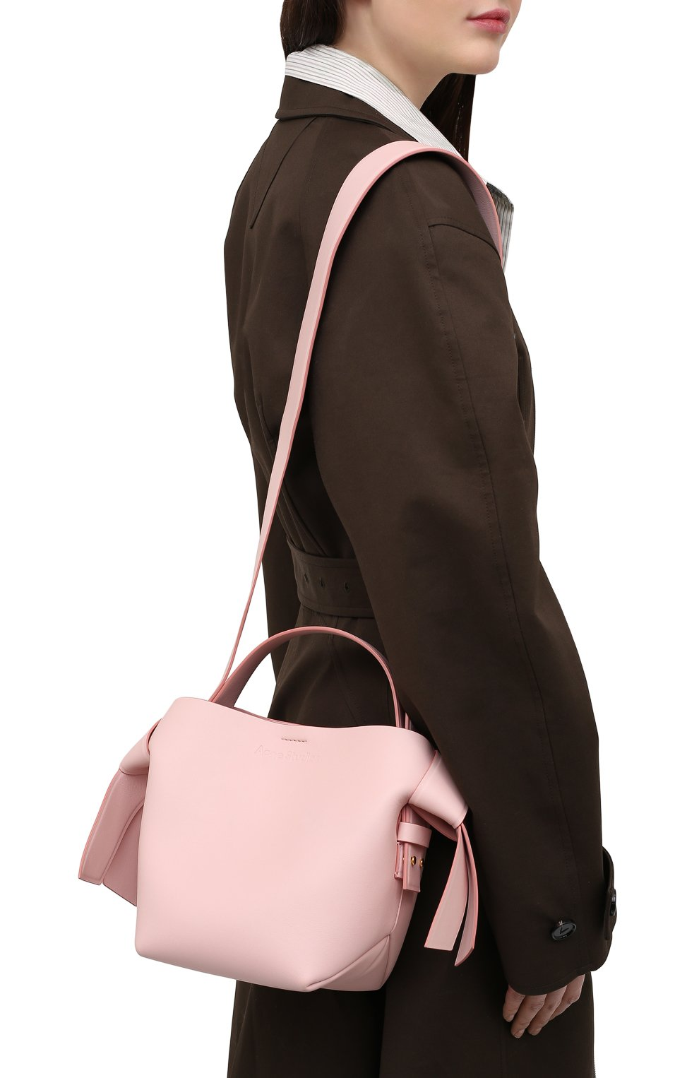 Женская сумка musubi mini ACNE STUDIOS розового цвета, арт. A10093   Фото 5