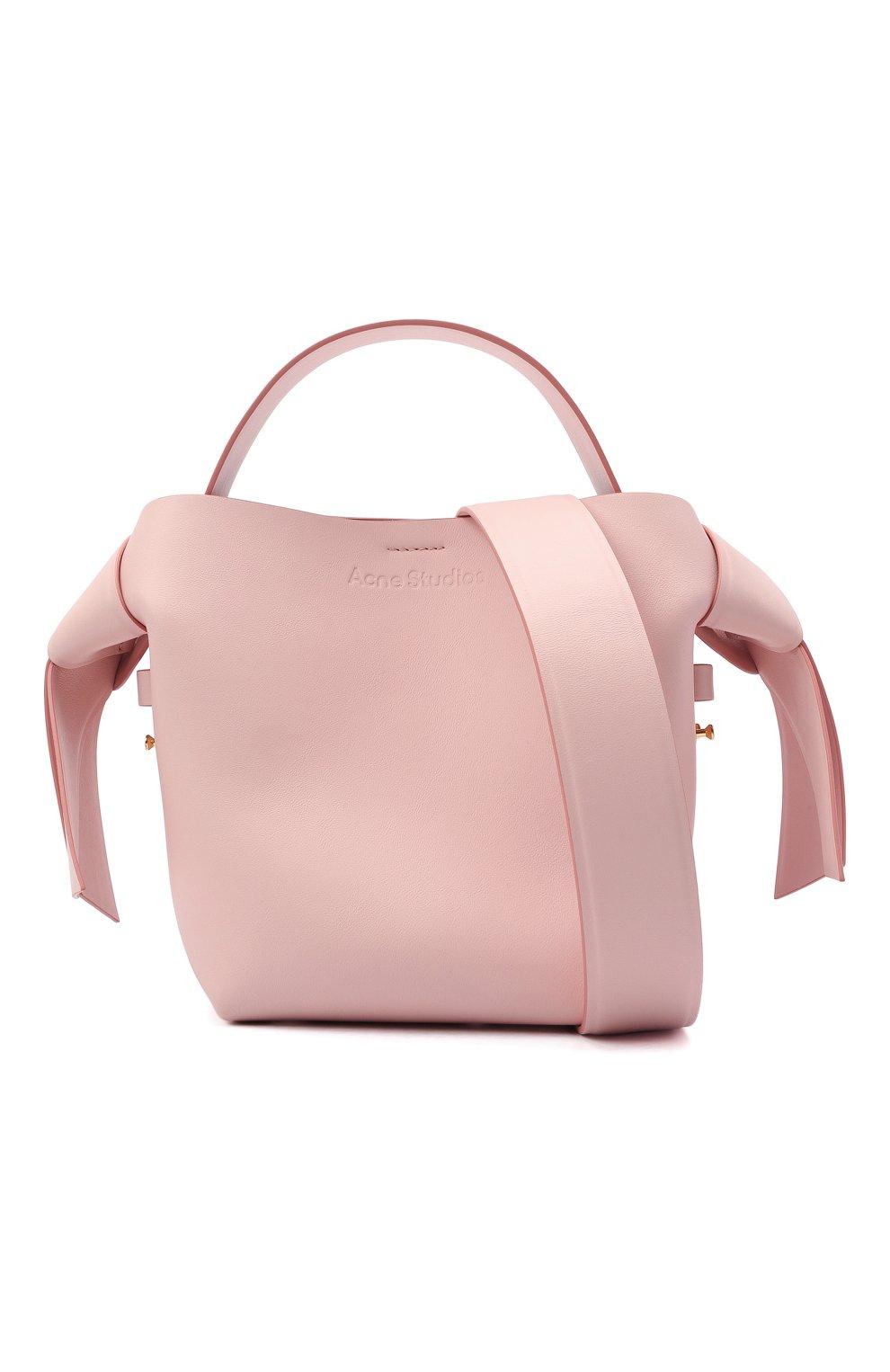 Женская сумка musubi mini ACNE STUDIOS розового цвета, арт. A10093   Фото 6