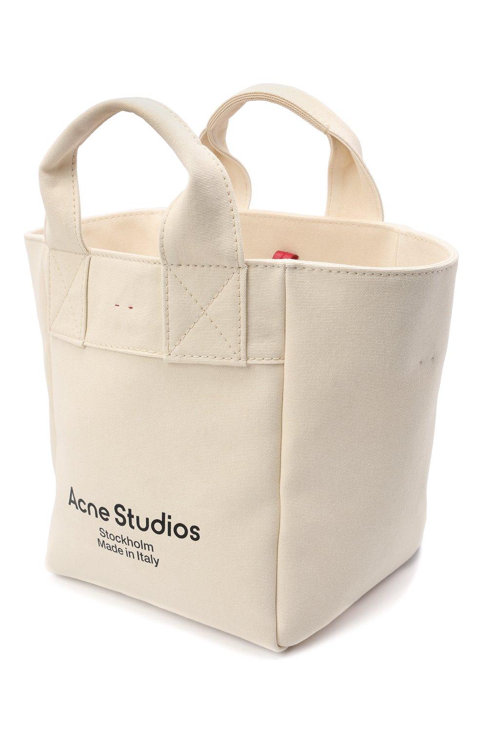Женский сумка-шопер ACNE STUDIOS бежевого цвета, арт. C10057/W | Фото 4