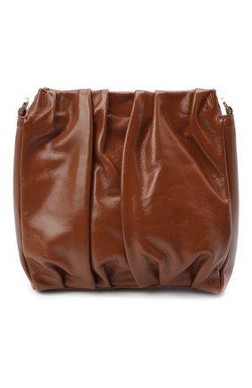 Женская сумка vague ELLEME коричневого цвета, арт. SQUARE/VAGUE PATENT LAMBSKIN | Фото 1