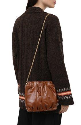 Женская сумка vague ELLEME коричневого цвета, арт. SQUARE/VAGUE PATENT LAMBSKIN | Фото 2