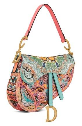 Женская сумка saddle DIOR разноцветного цвета, арт. M0446CLPRM884   Фото 2
