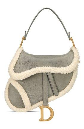 Женская сумка saddle DIOR серого цвета, арт. M0446CMTYM932   Фото 1