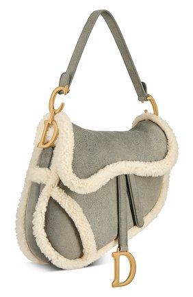 Женская сумка saddle DIOR серого цвета, арт. M0446CMTYM932   Фото 2