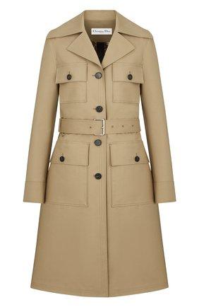 Женское пальто DIOR бежевого цвета, арт. 117M10A3905X1320   Фото 1