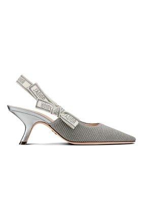 Женские текстильные туфли j'adior DIOR серебряного цвета, арт. KCP866ELFS75K   Фото 1