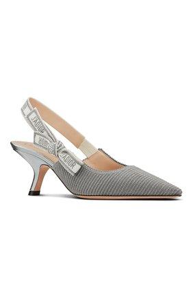 Женские текстильные туфли j'adior DIOR серебряного цвета, арт. KCP866ELFS75K   Фото 2