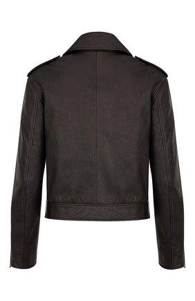 Женская кожаная куртка DIOR черного цвета, арт. 845V02AL200X9000 | Фото 2