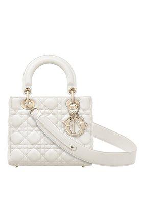 Женская сумка lady dior my abcdior DIOR кремвого цвета, арт. M0538OCALM030   Фото 1