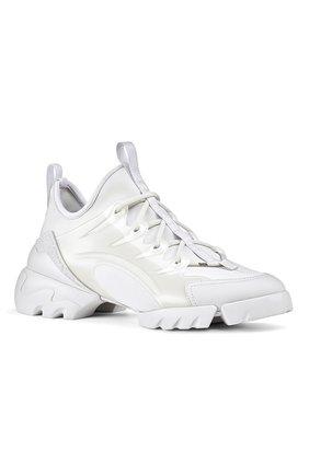 Женские комбинированные кроссовки d-connect DIOR белого цвета, арт. KCK222NGGS10W | Фото 2 (Материал внешний: Текстиль)