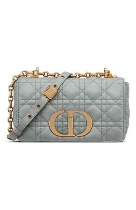 Женская сумка dior caro small DIOR серого цвета, арт. M9241UWHCM41G | Фото 1 (Ремень/цепочка: С цепочкой; Сумки-технические: Сумки через плечо; Размер: small; Материал: Натуральная кожа)