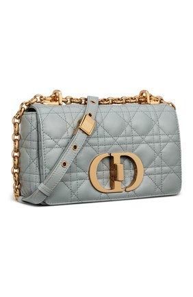 Женская сумка dior caro small DIOR серого цвета, арт. M9241UWHCM41G | Фото 2 (Ремень/цепочка: С цепочкой; Сумки-технические: Сумки через плечо; Размер: small; Материал: Натуральная кожа)