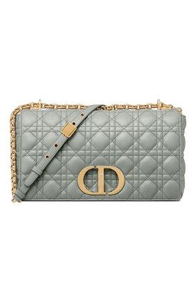 Женская сумка dior caro large DIOR серого цвета, арт. M9243UWHCM41G | Фото 1 (Материал: Натуральная кожа; Размер: large; Ремень/цепочка: С цепочкой; Сумки-технические: Сумки через плечо)