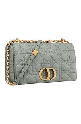 Женская сумка dior caro large DIOR серого цвета, арт. M9243UWHCM41G | Фото 2 (Материал: Натуральная кожа; Размер: large; Ремень/цепочка: С цепочкой; Сумки-технические: Сумки через плечо)