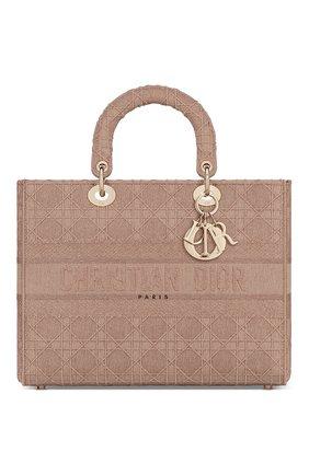 Женская сумка lady d-lite DIOR бежевого цвета, арт. M0566OWZAM912   Фото 1
