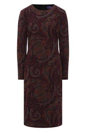 Женское платье RALPH LAUREN бордового цвета, арт. 290820736   Фото 1