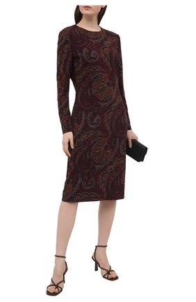 Женское платье RALPH LAUREN бордового цвета, арт. 290820736   Фото 2