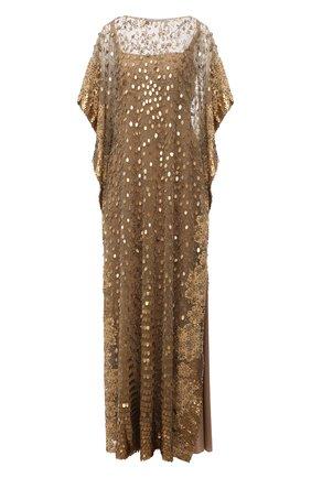 Женское платье VALENTINO золотого цвета, арт. VB0VDBW51ED | Фото 1