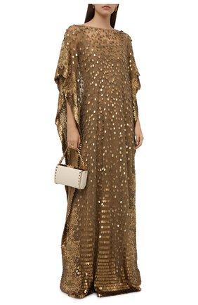 Женское платье VALENTINO золотого цвета, арт. VB0VDBW51ED | Фото 2