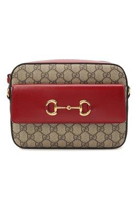 Женская сумка gg 1955 horsebit GUCCI красного цвета, арт. 645454/92TCG | Фото 1