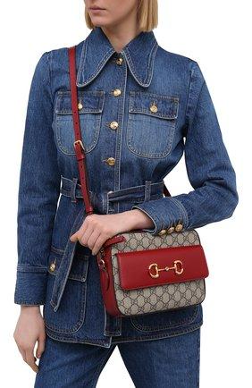 Женская сумка gg 1955 horsebit GUCCI красного цвета, арт. 645454/92TCG | Фото 2