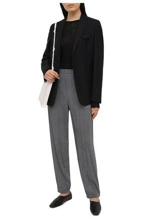 Женские брюки GIORGIO ARMANI черно-белого цвета, арт. 3KAP52/AJBSZ | Фото 2
