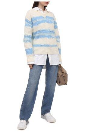 Женские кожаные кроссовки gumboy VALENTINO серебряного цвета, арт. VW2S0K55/GGJ | Фото 2