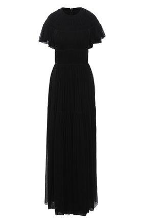 Женское шелковое платье CHLOÉ черного цвета, арт. CHC21SR001006 | Фото 1