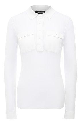 Женский пуловер TOM FORD белого цвета, арт. MAK1047-YAX292   Фото 1