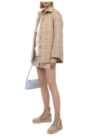 Женские кожаные ботинки GIANVITO ROSSI светло-бежевого цвета, арт. G73368.20G0M.CLNM0US | Фото 2