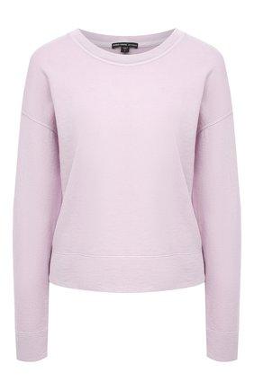 Женский хлопковый свитшот JAMES PERSE розового цвета, арт. WXA3318 | Фото 1