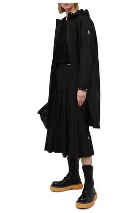 Женский плащ rasaben MONCLER GENIUS черного цвета, арт. G1-093-1C740-00-54155   Фото 2