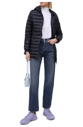 Женский пуховая куртка MONCLER темно-синего цвета, арт. G1-093-1B113-00-5396Q | Фото 2