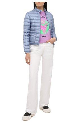 Женский пуховая куртка MONCLER голубого цвета, арт. G1-093-1A101-00-53048 | Фото 2