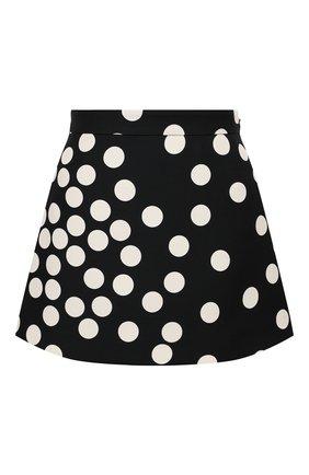 Женская юбка-шорты VALENTINO черно-белого цвета, арт. VB3RA766660 | Фото 1