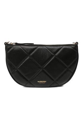 Женская сумка olympia BURBERRY черного цвета, арт. 8036744 | Фото 1 (Сумки-технические: Сумки через плечо; Материал: Натуральная кожа; Размер: mini; Ремень/цепочка: На ремешке)