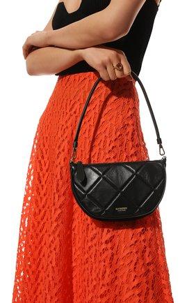Женская сумка olympia BURBERRY черного цвета, арт. 8036744 | Фото 2 (Сумки-технические: Сумки через плечо; Материал: Натуральная кожа; Размер: mini; Ремень/цепочка: На ремешке)