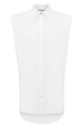 Женская рубашка ACNE STUDIOS белого цвета, арт. AC0341 | Фото 1