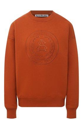 Женский хлопковый свитшот ACNE STUDIOS оранжевого цвета, арт. AI0081 | Фото 1